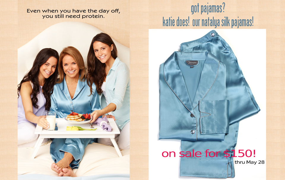 Check out Katie Couric in our Natalya Silk Pajama in the new got milk ad!