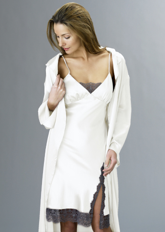 Luxury silk short nightgown
