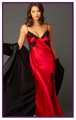 Luxurious silk chemises and robes!